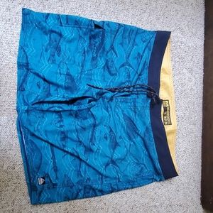Reef board shorts size 42, blue with a fish print